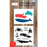 Carta Bella Paper - Yacht Club Collection - Designer Die and Clear Acrylic Stamp Set - Bon Voyage