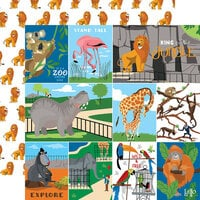 Carta Bella Paper - Zoo Adventure Collection - 12 x 12 Double Sided Paper - Multi Journaling Cards