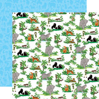 Carta Bella Paper - Zoo Adventure Collection - 12 x 12 Double Sided Paper - Jungle Animals