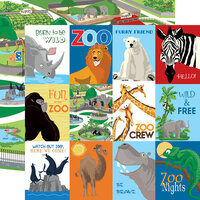 Carta Bella Paper - Zoo Adventure Collection - 12 x 12 Double Sided Paper - 3 x 4 Journaling Cards