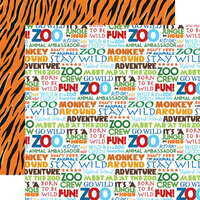 Carta Bella Paper - Zoo Adventure Collection - 12 x 12 Double Sided Paper - Stay Wild