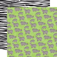 Carta Bella Paper - Zoo Adventure Collection - 12 x 12 Double Sided Paper - Hippos
