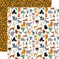 Carta Bella Paper - Zoo Adventure Collection - 12 x 12 Double Sided Paper - Born To Be Wild