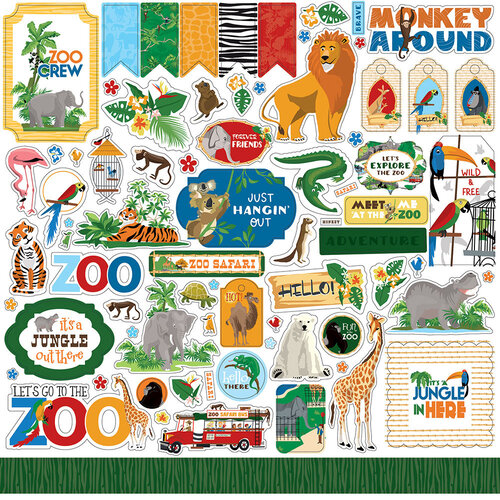 Carta Bella Paper - Zoo Adventure Collection - 12 x 12 Cardstock Stickers - Elements