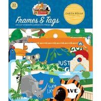 Carta Bella Paper - Zoo Adventure Collection - Ephemera - Frames and Tags