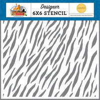 Carta Bella Paper - Zoo Adventure Collection - 6 x 6 Stencil - Zebra