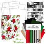 Carta Bella Paper - Home For Christmas Collection - December Days - 6 x 8 Poinsettia Album Kit - 157 Piece Bundle