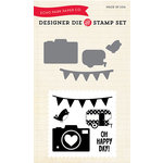Echo Park - Fine and Dandy Collection - Designer Die and Clear Acrylic Stamp Set - Oh Happy Day