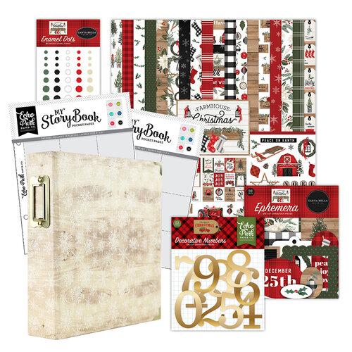 Carta Bella Paper - Farmhouse Christmas Collection - December Days - 6x8 Album Kit - 199 Piece Bundle