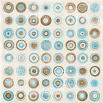 Carolee's Creations - Patterned Paper - Winter Collection - Winter Bullseye, CLEARANCE