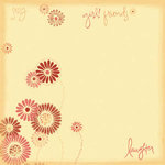 Carolee's Creations - Patterned Paper - Sassy Girl Collection- Sassy Daisy, CLEARANCE
