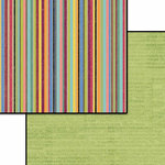 Carolee's Creations - Patterned Paper - Doublesided - Flea Market - Green Words, CLEARANCE