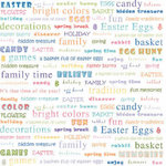 Carolee's Creations - Adornit - Easter Collection - 12 x 12 Paper - Easter Words, CLEARANCE