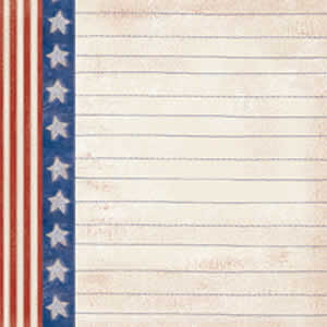 Carolee's Creations Adornit - Patriotic Collection - Paper - Star and Stripe Stitch A