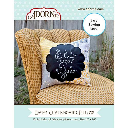 Carolee's Creations - Adornit - Fabric Box Kit - Daisy Chalkboard Pillow