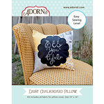 Carolee's Creations - Adornit - Fabric Box Kit - Daisy Chalkboard Pillow