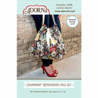 Carolee's Creations - Adornit - Fabric Box Kit - Weekender Bag - Chamberry