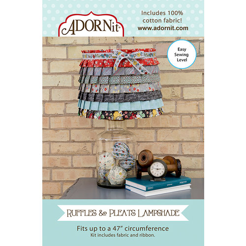 Carolee's Creations - Adornit - Fabric Box Kit - Ruffles and Pleats Lampshade