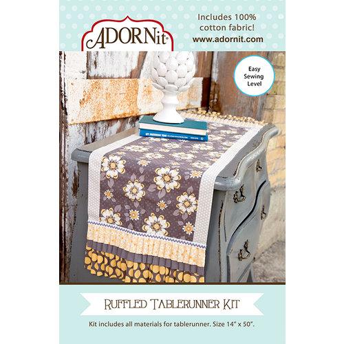 Carolee's Creations - Adornit - Fabric Box Kit - Ruffled Table runner