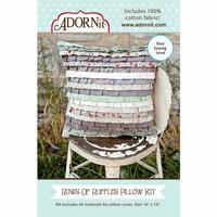 Carolee's Creations - Adornit - Fabric Box Kit - Rows of Ruffles Pillow