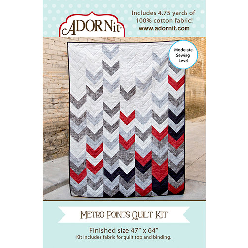 Carolee's Creations - Adornit - Fabric Box Kit - Metro Points Quilt