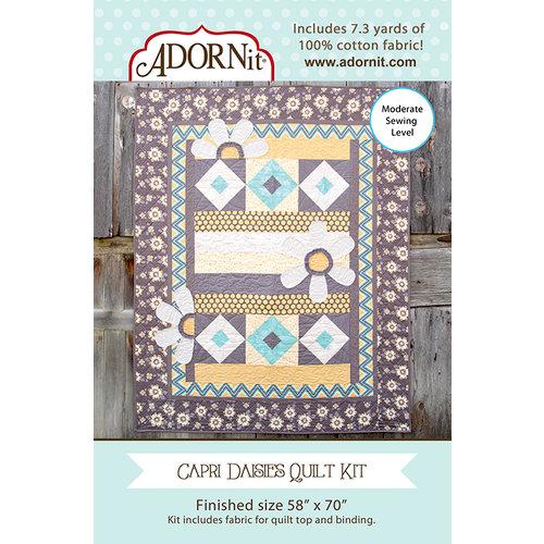 Carolee's Creations - Adornit - Fabric Box Kit - Capri Daisies Quilt