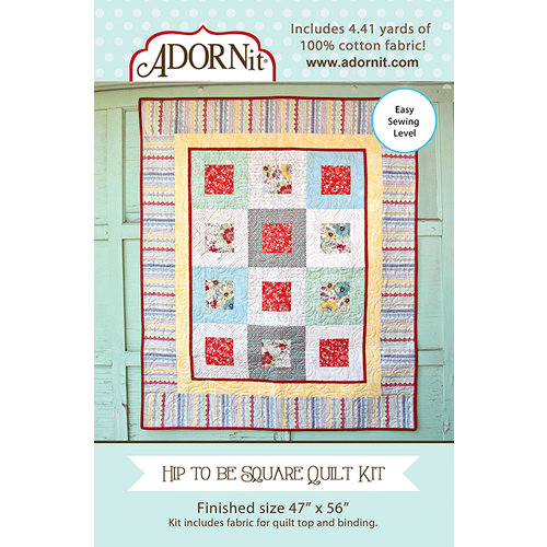 Carolee's Creations - Adornit - Fabric Box Kit - Hip to be Square Quilt