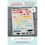 Carolee's Creations - Adornit - Fabric Box Kit - Dots and Dashes Quilt