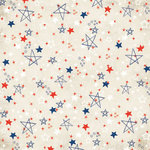 Carolee's Creations - Adornit - All American Collection - 12x12 Paper - Patriotic Stars, CLEARANCE
