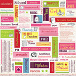 Carolee's Creations Adornit - School Days Collection - Paper - School Words Girl