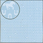Carolee's Creations Adornit - Wild West Collection - 12x12 Paper - Blue Horseshoes, CLEARANCE