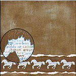 Carolee's Creations Adornit - Wild West Collection - 12x12 Paper - Blue Running Horses