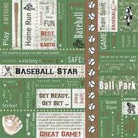 Carolee's Creations - Adornit - Baseball Collection - 12 x 12 Paper - Baseball Block