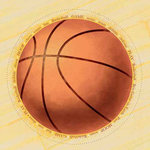 Carolee's Creations - Adornit - Basketball Collection - 12x12 Paper - Jumbo B-Ball, CLEARANCE
