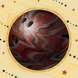 Carolee's Creations - Adornit - Bowling Collection - 12x12 Paper - Jumbo Bowling Ball, CLEARANCE