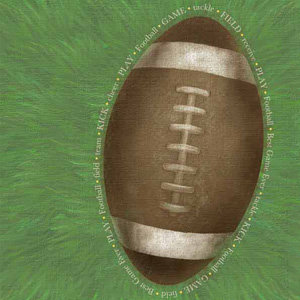 Carolee's Creations - Adornit - Football Collection - 12 x 12 Paper - Jumbo Football