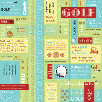 Carolee's Creations - Adornit - Golf Collection - 12 x 12 Paper - Golf Block