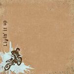 Carolee's Creations - Adornit - Dirt Biking Collection - 12 x 12 Paper - Livin' It Up