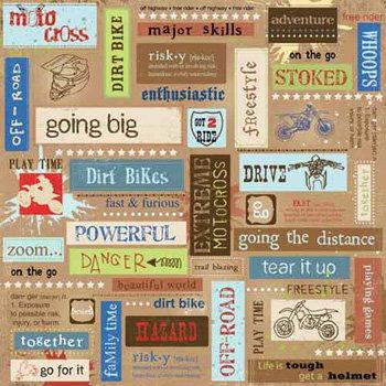 Carolee's Creations - Adornit - Dirt Biking Collection - 12 x 12 Paper - Motocross Block