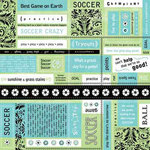 Carolee's Creations - Adornit - Soccer Collection - 12x12 Paper - Soccer Block