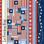 Carolee's Creations - Adornit - All American Collection - 12x12 Paper - Freedom Rings, CLEARANCE