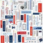 Carolee's Creations - Adornit - All American Collection - 12x12 Paper - Liberty Block, CLEARANCE