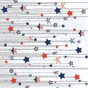 Carolee's Creations - Adornit - All American Collection - 12 x 12 Paper - Americana Stars