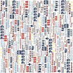 Carolee's Creations - Adornit - All American Collection - 12x12 Paper - Home of the Brave, CLEARANCE