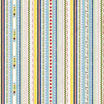 Carolee's Creations Adornit - School Academy Collection - 12 x 12 Paper - Education Stripe, CLEARANCE