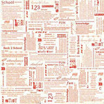 Carolee's Creations Adornit - School Academy Collection - 12 x 12 Paper - Education Defined, CLEARANCE