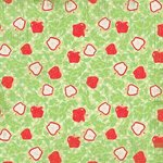 Carolee's Creations - Adornit - Aunt Mame Collection - 12 x 12 Paper - Apple Brocade, CLEARANCE