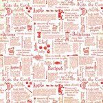 Carolee's Creations - Adornit - Aunt Mame Collection - 12 x 12 Paper - Recipe Jumble