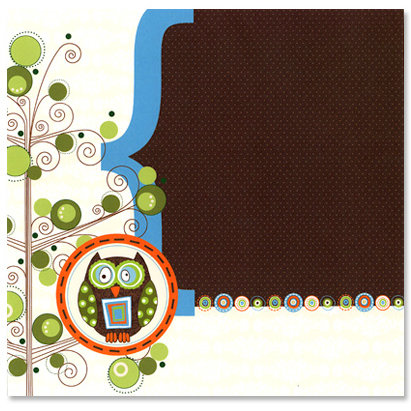 Carolee's Creations - Adornit - Fern Collection - 12 x 12 Paper - Owl Hoot A