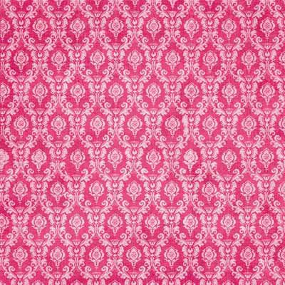 Carolee's Creations - Adornit - Dance Collection - 12 x 12 Paper - Pink Brocade